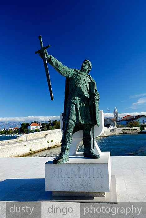 Statue of Croatian hero Branimir, Nin, Croatia