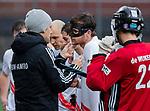 AMSTELVEEN - blessure bij Wiegert Schut (Adam)   tijdens de hoofdklasse competitiewedstrijd heren, AMSTERDAM-ROTTERDAM (2-2). COPYRIGHT KOEN SUYK
