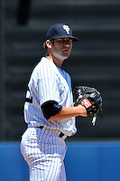 Staten Island Yankees pitcher Fred Lewis #22 during a game against the State College Spikes at Richmond County Bank Ballpark at St. George on July 14, 2011 in Staten Island, NY.  Staten Island defeated State College 6-4.  Tomasso DeRosa/Four Seam Images