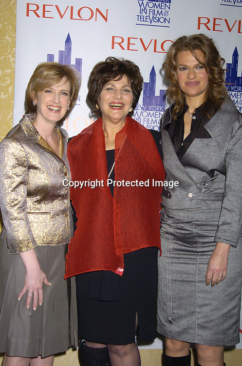 Anne Sweeney, Linda Kahn and Sandra Bernhardt.at The New York Women in Film and Television 2004 Muse Awards Luncheon on Dec 16, 2004 at the New York Hilton Hotel. Lucci, Sweeney, Grant and Zea were honored. .Photo by Robin Platzer, Twin Images