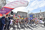 Ready to start Stage 1 of Il Giro di Sicilia running 165km from Catania to Milazzo, Italy. 3rd April 2019.<br /> Picture: LaPresse/Fabio Ferrari | Cyclefile<br /> <br /> <br /> All photos usage must carry mandatory copyright credit (© Cyclefile | LaPresse/Fabio Ferrari)