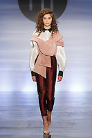 Model walks runway in an outfit by Suyeon Kim, during the Future of Fashion 2017 runway show at the Fashion Institute of Technology on May 8, 2017.