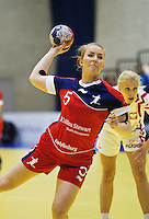22 MAR 2012 - LOUGHBOROUGH, GBR - Great Britain's Nina Heglund (GBR) takes a penalty during the women's 2012 European Handball Championships qualification match at Loughborough University in Loughborough, Great Britain .(PHOTO (C) 2012 NIGEL FARROW)