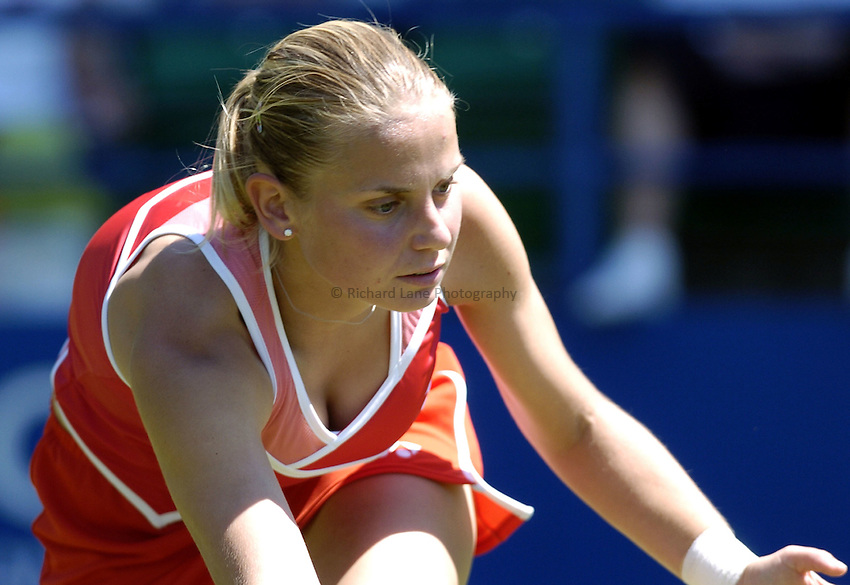 Photo: Richard Lane..Hastings Direct International Championship at Eastbourne. 15/06/2004..Jelena Dokic of Serbia & Montenegro.