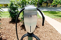 New Tesla charging station at Keswick Hall and Golf Club located in Keswick, Va. Photo/Andrew Shurtleff