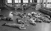 Drama class, Whitworth Comprehensive School, Whitworth, Lancashire.  1970.