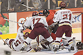 Tim Filangieri, Joe Rooney, NU ?, Cory Schneider, Benn Ferreiro - The Boston College Eagles defeated the Northeastern University Huskies 5-2 in the opening game of the 2006 Beanpot at TD Banknorth Garden in Boston, MA, on February 6, 2006.