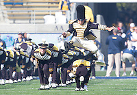 Saturday, November 2nd, 2013: California's Band jumps during pre-game performance during a game against Arizona at Memorial Stadium, Berkeley, Final Score: Arizona defeated California 33-28