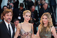 Michelle Pfeiffer, Jennifer Lawrence, Javier Bardem at the &quot;Mother!&quot; premiere, 74th Venice Film Festival in Italy on 5 September 2017.<br /> <br /> Photo: Kristina Afanasyeva/Featureflash/SilverHub<br /> 0208 004 5359<br /> sales@silverhubmedia.com