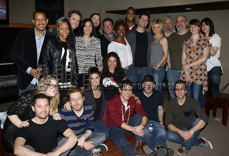 "The cast and creative team attend the ""If/Then"" Original Broadway Cast Recording at MSR Recording Studios on April 7, 2014 in New York City."