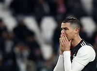 Calcio, Serie A: Juventus - Parma, Turin, Allianz Stadium, January 19, 2020.<br /> Juventus' Cristiano Ronaldo reacts during the Italian Serie A football match between Juventus and Parma at the Allianz stadium in Turin, January 19, 2020.<br /> UPDATE IMAGES PRESS/Isabella Bonotto