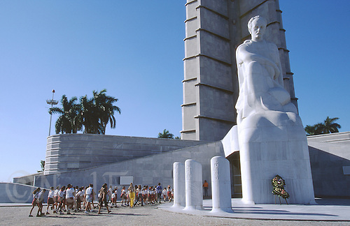 14 FEB 2003 - HAVANA, CUBA -  The Monumento y Jose Marti in Havana (PHOTO (C) NIGEL FARROW)
