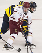 Ryan Fitzgerald (BC - 19), Marc Biega (Merrimack - 4) - The visiting Merrimack College Warriors defeated the Boston College Eagles 6 - 3 (EN) on Friday, February 10, 2017, at Kelley Rink in Conte Forum in Chestnut Hill, Massachusetts.