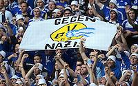 Fussball 1. Bundesliga :  Saison   2012/2013   8. Spieltag  20.10.2012 Borussia Dortmund - FC Schalke 04 Schalke Fans mit einem Banner GEGEN NAZIS