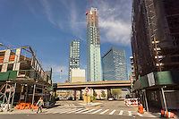 Development  in Western Queens in the neighborhood of Long Island City in New York seen on Sunday, April 24, 2016. The formerly industrial waterfront is experiencing heavy development partially because of it's proximity to Manhattan. (© Richard B. Levine)