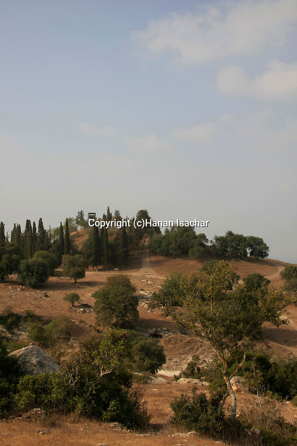 Israel, Jezreel Valley, a view of Tel Shimron