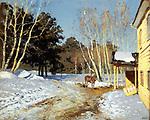 Isaac Levitan (1860 - 1900). March. 1895; State Tretyakov Gallery, Moscow. / Левитан Исаак Ильич (1860 - 1900). Март. 1895; Государственная Третьяковская галерея, Москва.