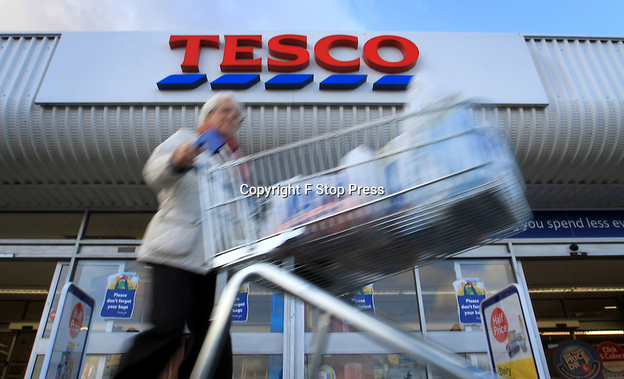 07/10/15 FILE PHOTO<br /> <br /> Tesco half year profits plummet by 55% to £354M