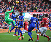 4th November 2017, Ashton Gate, Bristol, England; EFL Championship football, Bristol City versus Cardiff City; Neil Etheridge of Cardiff City collects the corner kick