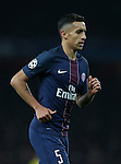 PSG's Marquinhos in action during the Champions League group A match at the Emirates Stadium, London. Picture date November 23rd, 2016 Pic David Klein/Sportimage