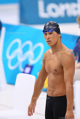 Takeshi Matsuda (JPN), .JULY 30, 2012 - Swimming : .Men's 200m Butterfly Heat .at Olympic Park - Aquatics Centre .during the London 2012 Olympic Games in London, UK. .(Photo by YUTAKA/AFLO SPORT)