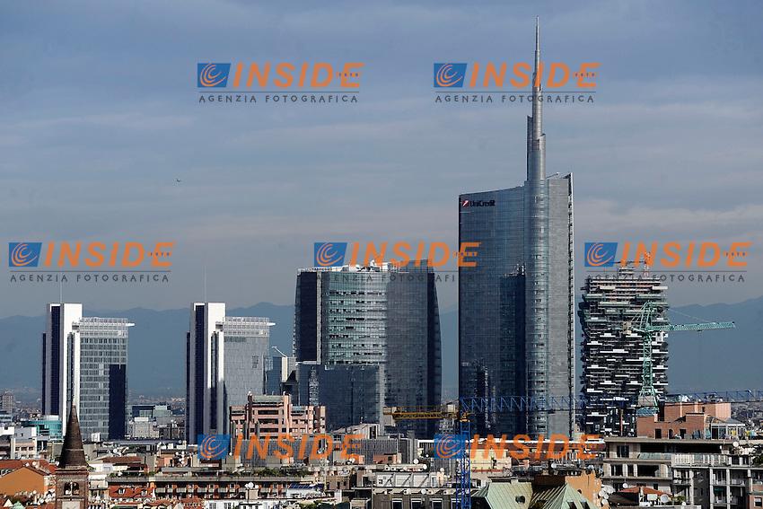 Milano Skyline <br /> Milano 18/09/2013 - Incontro 'Il grande progetto per la sicurezza del Duomo di Milano <br /> foto Andrea Ninni/Image/Insidefoto