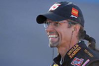 Apr 19, 2007; Avondale, AZ, USA; Nascar Nextel Cup Series driver Kyle Petty (45) during qualifying for the Subway Fresh Fit 500 at Phoenix International Raceway. Mandatory Credit: Mark J. Rebilas