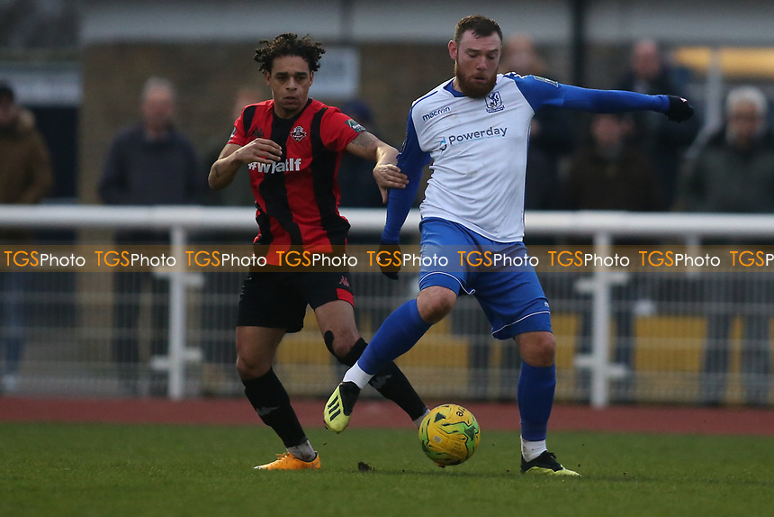 Billy Bricknell of Enfield during Enfield Town vs Lewes, Bostik League Premier Division Football at the Queen Elizabeth II Stadium on 5th January 2019
