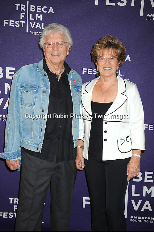 """Lloyd Schoonmaker and Wife Fredyann attends """"Evocateur: The Morton Downey, Jr Movie"""" screening at Tribeca Film Festival on April 19, 2012 at The Chelsea Clearview Cinema in New York City."""
