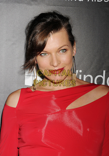 HOLLYWOOD, CA- OCTOBER 29: Actress Milla Jovovich attends amfAR LA Inspiration Gala honoring Tom Ford at Milk Studios on October 29, 2014 in Hollywood, California.<br /> CAP/ROT/TM<br /> &copy;TM/ROT/Capital Pictures
