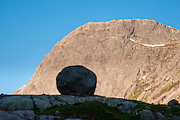 Norway, Gjesdal. Rock above Gautøynvatnet lake.