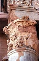 Libia  Sabratha .Citt&agrave;  romana a circa 67km da Tripoli.Teatro Romano,  particolare delle colonne.<br /> Sabratha Libya.Roman city about 67km from Tripoli.<br /> Roman Theatre,particular column