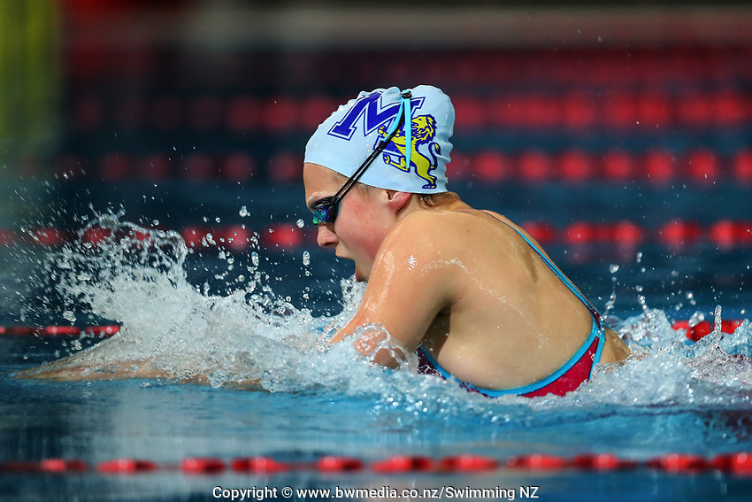 Brearna Crawford. New Zealand Short Course Swimming Championships, National Aquatic Centre, Auckland, New Zealand, Thursday 3rd October 2019. Photo: Simon Watts/www.bwmedia.co.nz/SwimmingNZ