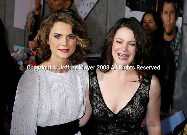 "WESTWOOD, CA. - December 18: Actresses Keri Russell and Lindsey Alley arrive at the Los Angeles premiere of ""Bedtime Stories"" at the El Capitan Theatre on December 18, 2008 in Hollywood, California."