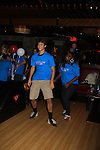 "One Life To Live Andrew Trischitta ""Jack Manning"" and Shenell Edmonds ""Destiny"" bowl at 9th Annual Daytime Stars & Strikes Charity Event to benefit The American Cancer Society on October 7, 2012 at Bowlmor Lanes Times Square, New York City, New York.  (Photo by Sue Coflin/Max Photos)"