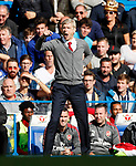 Arsenal's Arsene Wenger in action during the premier league match at Stamford Bridge Stadium, London. Picture date 17th September 2017. Picture credit should read: David Klein/Sportimage