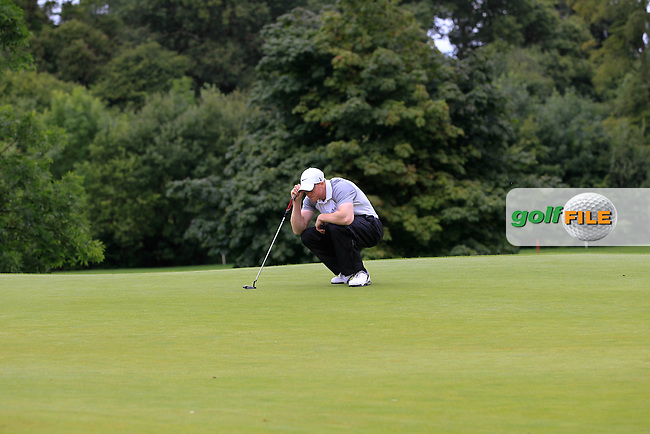 Paul Reavey (Warrenpoint) on the 2nd green during round 1 of The Mullingar Scratch Cup in Mullingar Golf Club on Sunday 3rd August 2014.<br /> Picture:  Thos Caffrey / www.golffile.ie