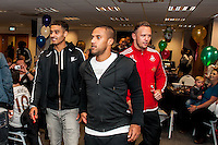 Tuesday  15 December 2015<br /> Pictured L-R: Kyle Naughton, Wayne Routledge and Lee Trundle <br /> Re: Kids SCFC Christmas Party at the Liberty Stadium, Swansea
