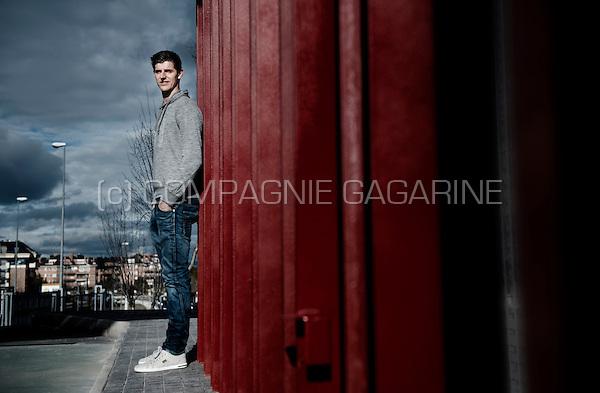 Belgian football player Thibaut Courtois in Madrid (Spain, 31/01/2014)