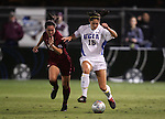 UCLA's Kara Lang (15) and FSU's Libby Gianeskis (12). The UCLA Bruins defeated the Florida State University Seminoles 4-0 at Aggie Soccer Stadium in College Station, Texas, Friday, December 2, 2005.