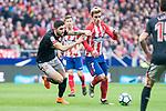 Atletico de Madrid Antoine Griezmann and Athletic Club Unai Nunez  during La Liga match between Atletico de Madrid and Athletic Club and Wanda Metropolitano in Madrid , Spain. February 18, 2018. (ALTERPHOTOS/Borja B.Hojas)