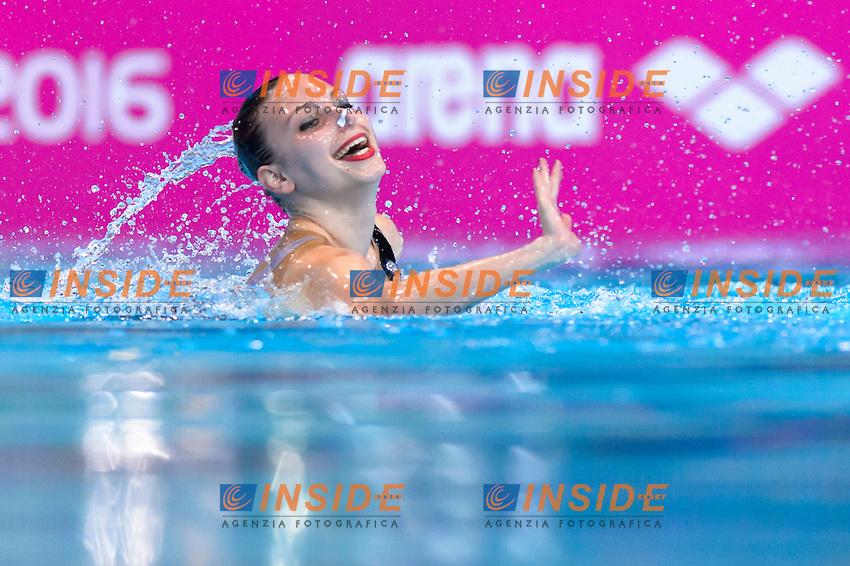 DIMITROVA Zlatina BUL Bulgaria <br /> Solo Free<br /> London, Queen Elizabeth II Olympic Park Pool <br /> LEN 2016 European Aquatics Elite Championships <br /> Synchronized Swimming  <br /> Day 01 09-05-2016<br /> Photo Andrea Staccioli/Deepbluemedia/Insidefoto