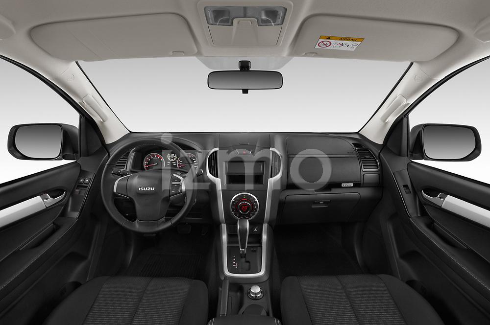 Stock photo of straight dashboard view of 2019 Isuzu D-Max LS 2 Door Pick-up Dashboard