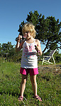 Child Enjoying Bubbles on Island of Kökar, Åland, Finland