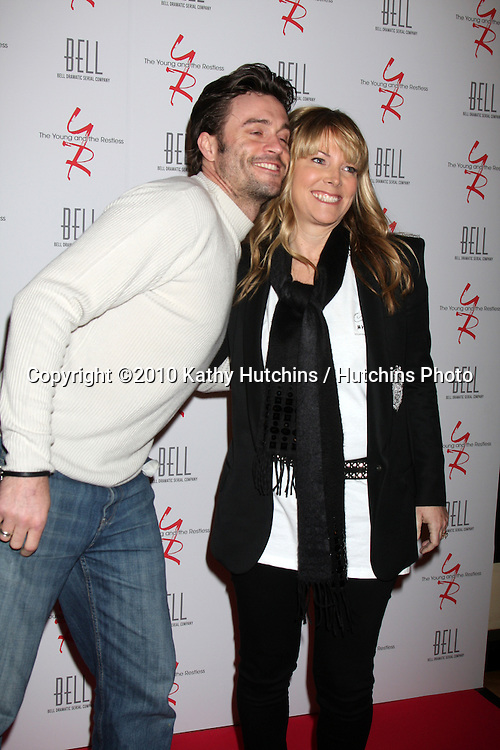 Daniel Goddard & Maria Arena Bell.arrivng at The Young & The Restless 37th Anniversary Dinner.Via Allorro.Beverly Hills, CA.March 9, 2010.©2010 Kathy Hutchins / Hutchins Photo....