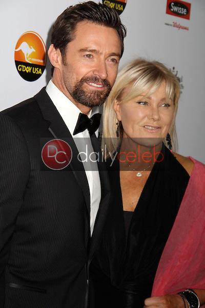 Hugh Jackman and wife Deborra-Lee Furness<br /> at the 2013 G'Day USA Los Angeles Black Tie Gala, JW Marriot, Los Angeles, CA  01-12-13<br /> David Edwards/DailyCeleb.com 818-249-4998