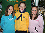 Local Girl Guides Alex McCabe, Grace Bohan and Fiona Keys pictured at the Fair on the green in Duleek. Photo: www.pressphotos.ie