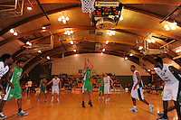Jets centre Nick Horvath takes a penalty. NBL  - Manawatu Jets  v Nelson Giants at Arena Manawatu, Palmerston North, New Zealand on Saturday, 25 June 2011. Photo: Dave Lintott / lintottphoto.co.nz