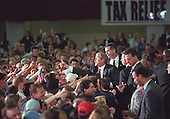 United States President George W. Bush greets people in the crowd at the Billings, Montana welcome held at the Metrapark Expo and Convention Center on Monday, March 26, 2001..Mandatory Credit: Eric Draper - White House via CNP