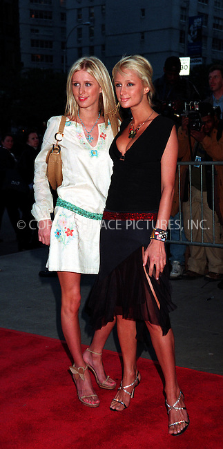 "Nicky Hilton and Paris Hilton at the premiere of ""Enough"". New York. May 21, 2002. Please byline: ARTHUR J./ACEPIXS.COM   .. *** ***  ..Ace Pictures, Inc:  ..contact: Alecsey Boldeskul (646) 267-6913 ..Philip Vaughan (646) 769-0430..e-mail: info@acepixs.com"